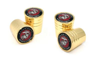 Marine Valve Stem Caps - Gold Smooth