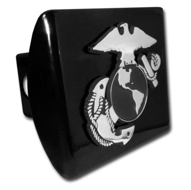 Marines Anchor Emblem on Black Hitch Cover