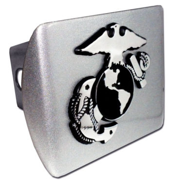 Marines Anchor on Brushed Hitch Cover