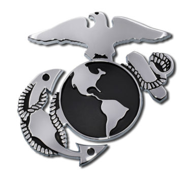 Marines Anchor Chrome Emblem image