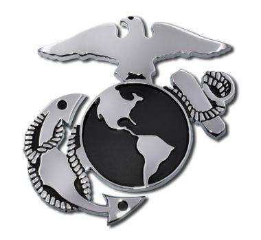 Marines Anchor Chrome Emblem