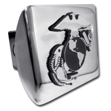 Marines Anchor Emblem on Chrome Hitch Cover