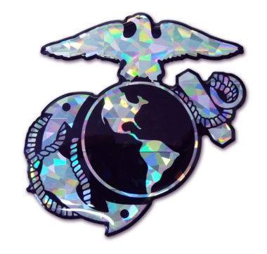 Marines Anchor 3D Reflective Decal