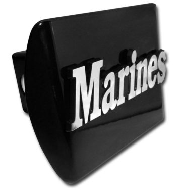 Marines Emblem on Black Hitch Cover image