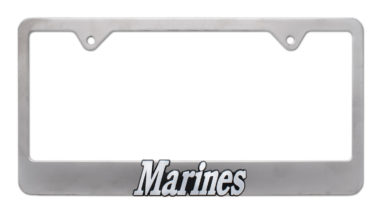 Marines Matte License Plate Frame image