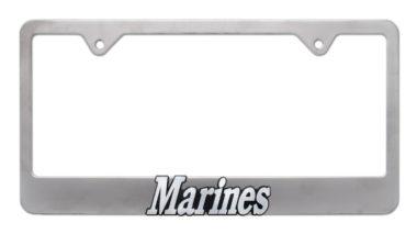 Marines Matte License Plate Frame