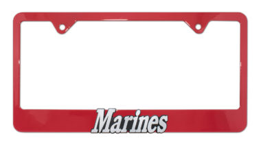 Marines Red License Plate Frame image
