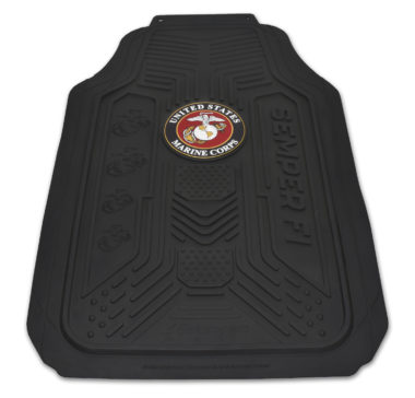 Marines Black Floor Mats - 2 Pack