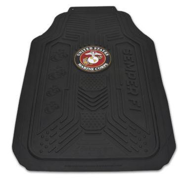 Marines Black Floor Mats - 2 Pack