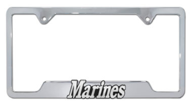 Marines Chrome Open License Plate Frame image
