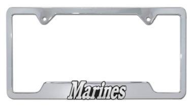 Marines Chrome Open License Plate Frame