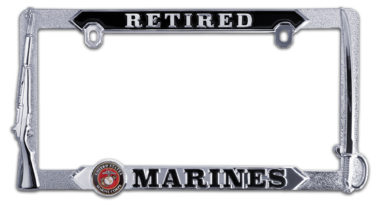 Marines Retired 3D License Plate Frame