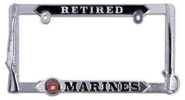 Marines Retired 3D License Plate Frame