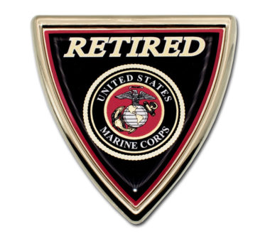 Marines Retired Shield Chrome Emblem image