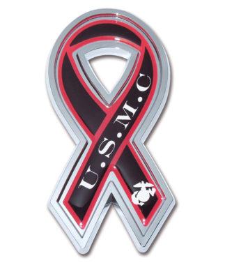 Marines Ribbon Chrome Emblem