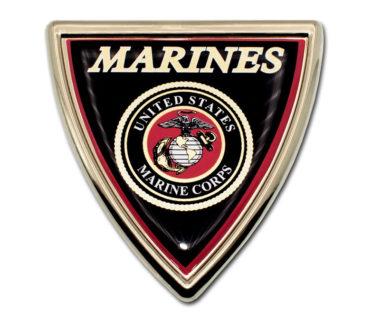 Marines Shield Chrome Emblem