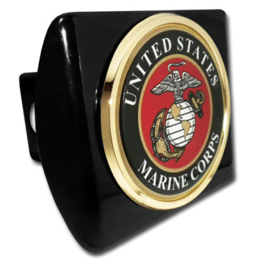Marines Seal Emblem on Black Hitch Cover