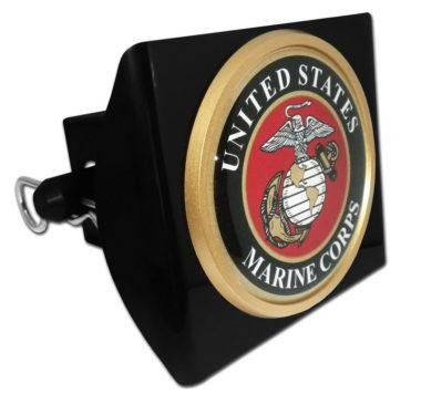 Marines Seal Emblem on Black Plastic Hitch Cover image