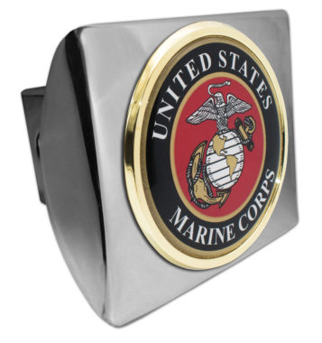 Marine Seal Emblem on Chrome Hitch Cover