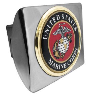 Marine Seal Emblem on Chrome Hitch Cover