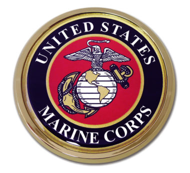 Marines Seal Chrome Emblem image