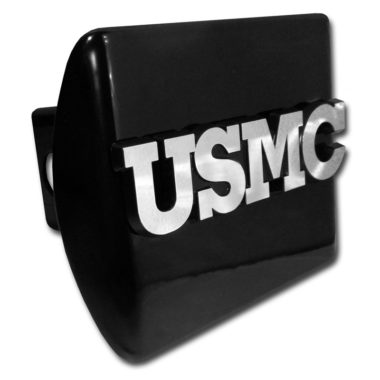 Marines USMC Emblem on Black Hitch Cover image