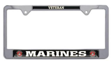 Full-Color Marines Veteran License Plate Frame