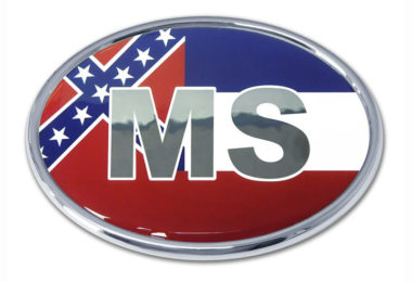 Mississippi Flag Chrome Emblem