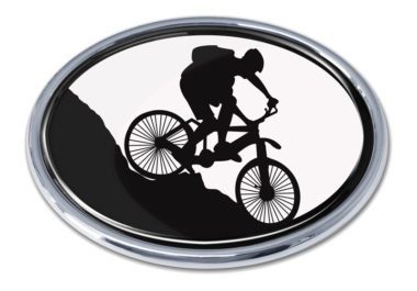 Mountain Biking Chrome Emblem