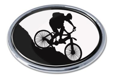 Mountain Biking Chrome Emblem