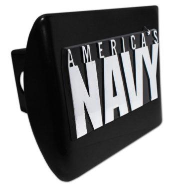 America's Navy Emblem on Black Hitch Cover