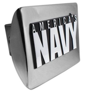 America's Navy Emblem on Chrome Hitch Cover