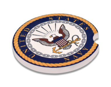 Navy Car Coaster - 2 Pack image