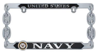 Navy 3D License Plate Frame image