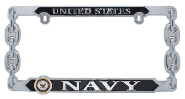 Navy 3D License Plate Frame