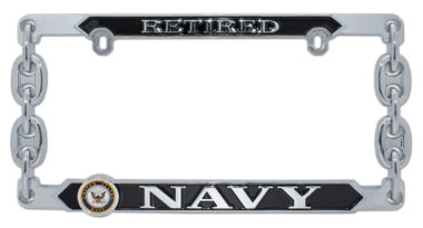 Navy Retired 3D License Plate Frame