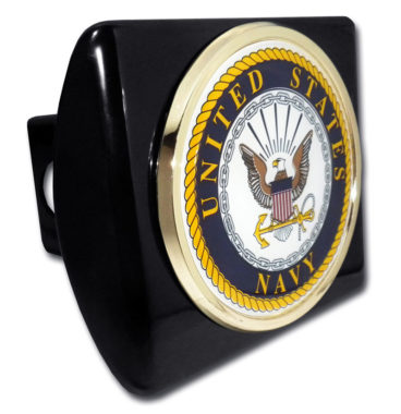 Navy Seal Emblem on Black Hitch Cover