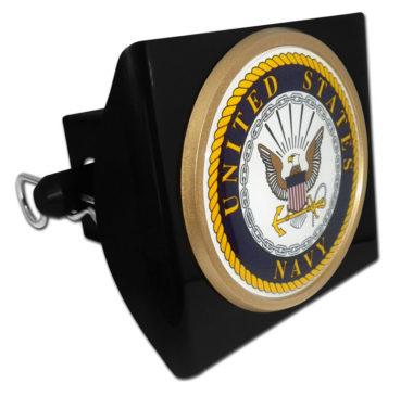 Navy Seal Emblem on Black Plastic Hitch Cover