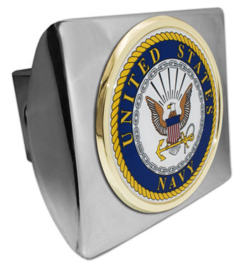 Navy Seal Emblem on Chrome Hitch Cover