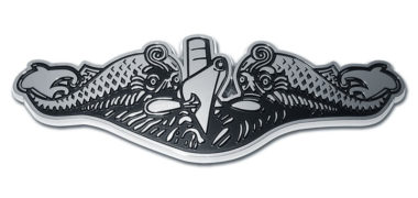 Navy Submarine Chrome Emblem