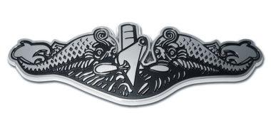 Navy Submarine Chrome Emblem