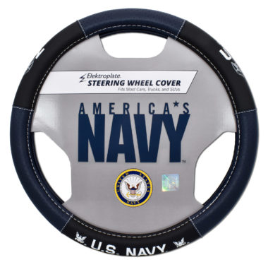 Navy Steering Wheel Cover - Large image