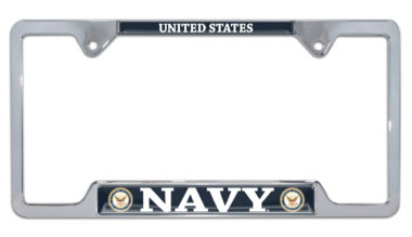 Full-Color US Navy License Plate Frame image