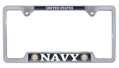 Full-Color US Navy License Open Plate Frame