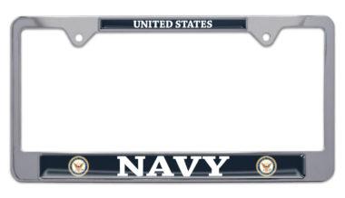 Full-Color US Navy License Plate Frame