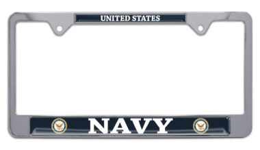 Full-Color US Navy License Plate Frame image