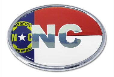 North Carolina Flag Chrome Emblem