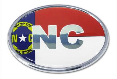 North Carolina Flag Chrome Emblem