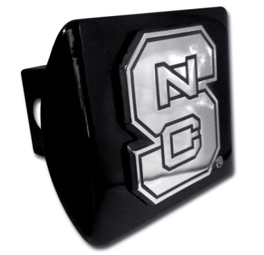 North Carolina State Emblem on Black Hitch Cover