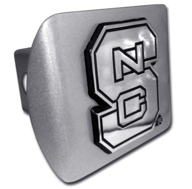 North Carolina State Emblem on Brushed Hitch Cover